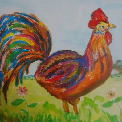 Chicken Painting3